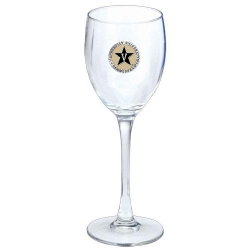 Vanderbilt University Wine Glass - Enameled