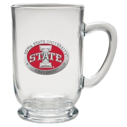 "Iowa State University ""I"" Clear Coffee Cup - Enameled"