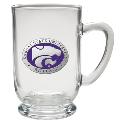 Kansas State University Clear Coffee Cup - Enameled