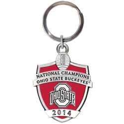 2014 BCS National Champions Ohio State Buckeyes Key Chain - Enameled