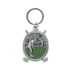 "Golf ""Putter"" Key Chain - Enameled"