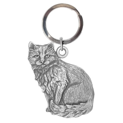 Cat Sitting Key Chain