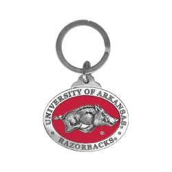 University of Arkansas Key Chain - Enameled