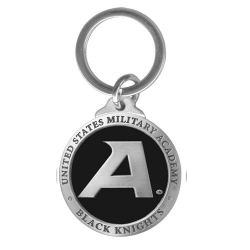 "Army ""Black Knight's"" Key Chain - Enameled"