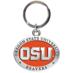 Oregon State University Key Chain - Enameled