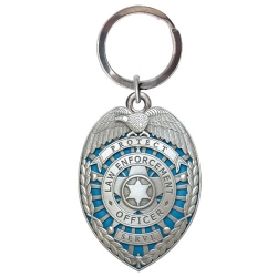 Law Enforcement Key Chain - Enameled