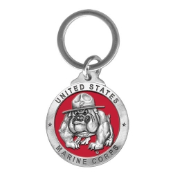 "Marine Corps ""Bulldogs"" Key Chain - Enameled"