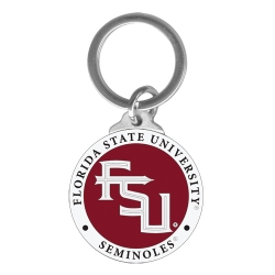 "Florida State University ""FSU"" Key Chain - Enameled"