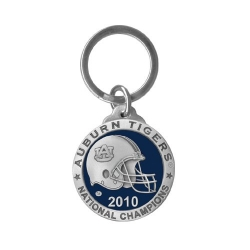 "2010 BCS National Champions Auburn University ""Tigers"" Key Chain - Enameled - Helmet"
