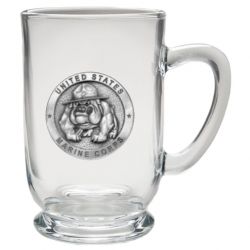 "Marine Corps ""Bulldogs"" Clear Coffee Cup"