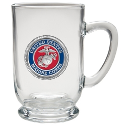 "Marine Corps ""USMC"" Clear Coffee Cup - Enameled"