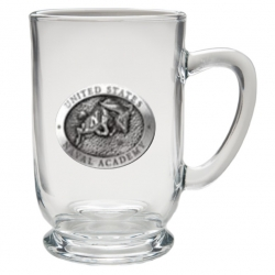 """Naval Academy """"Bill the Goat"""" Clear Coffee Cup"""
