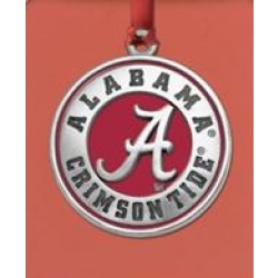 "Alabama ""A"" Crimson Tide Ornament - Enameled"