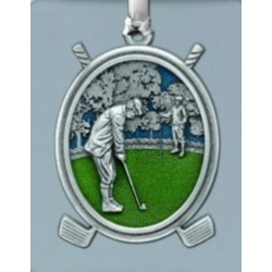 "Golf ""Putter"" Ornament - Enameled"