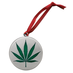 Marijuana Ornament - Enameled