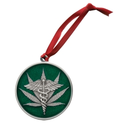 Marijuana #2 Ornament - Enameled