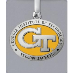 "Georgia Institute of Technology ""GT"" Ornament - Enameled"