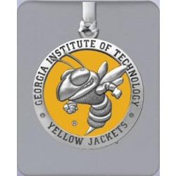 """Georgia Institute of Technology """"Yellow Jackets"""" Ornament - Enameled"""
