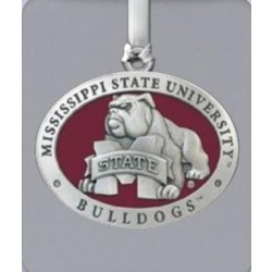 "Mississippi State University ""Bulldog"" Ornament - Enameled"