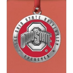 Ohio State University Ornament - Enameled
