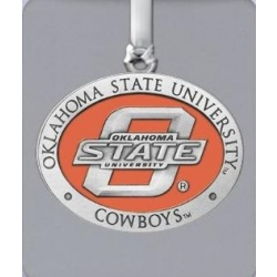 Oklahoma State University Ornament - Enameled