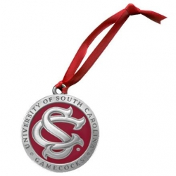 "University of South Carolina ""SC"" Ornament - Enameled"