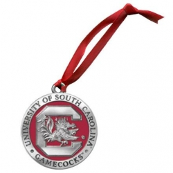 "University of South Carolina ""Gamecocks"" Ornament - Enameled"