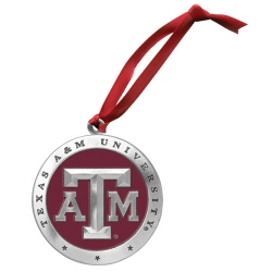 Texas A&M University Ornament - Enameled