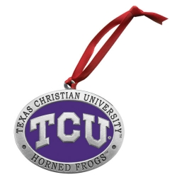Texas Christian University Ornament - Enameled