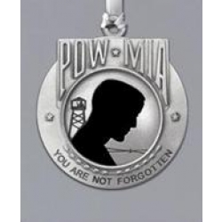 POW MIA Ornament - Enameled