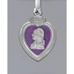 Purple Heart Ornament - Enameled