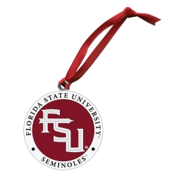 "Florida State University ""FSU"" Ornament - Enameled"