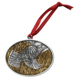 Ruffed Grouse Ornament - Enameled