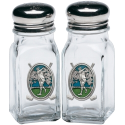 "Golf ""Driver"" Salt and Pepper Shaker Set - Enameled"