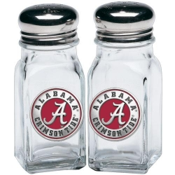 "Alabama ""A"" Crimson Tide Salt & Pepper Shaker Set - Enameled"