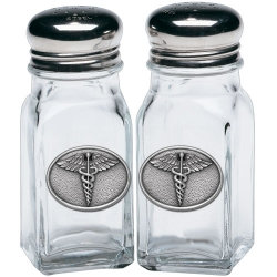 Caduceus Salt and Pepper Shaker Set