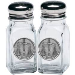 Law - Scales of Justice Salt and Pepper Shaker Set