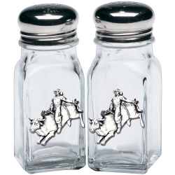 Bull Rider Salt and Pepper Shaker Set