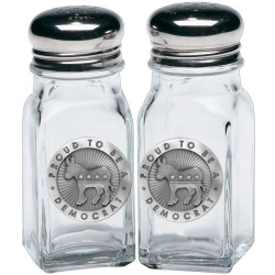 Democrat Salt and Pepper Shaker Set