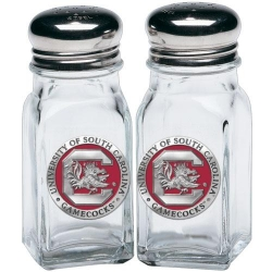 "University of South Carolina ""Gamecocks"" Salt and Pepper Shaker Set - Enameled"