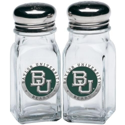 Baylor University Salt and Pepper Shaker Set - Enameled