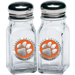 Clemson University Salt and Pepper Shaker Set - Enameled