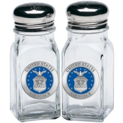 Air Force Salt and Pepper Shaker Set - Enameled
