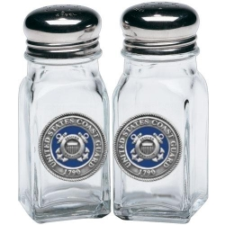 Coast Guard Salt and Pepper Shaker Set - Enameled