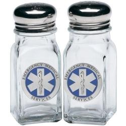 EMS Salt and Pepper Shaker Set - Enameled