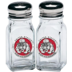"Marine Corps ""Bulldogs"" Salt and Pepper Shaker Set - Enameled"