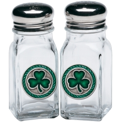 Clover Salt and Pepper Shaker Set - Enameled