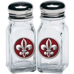 Fleur de Lis #2 Salt and Pepper Shaker Set - Enameled