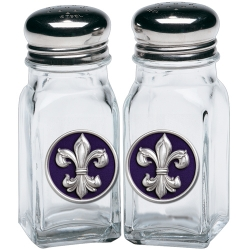Fleur de Lis #3 Salt and Pepper Shaker Set - Enameled