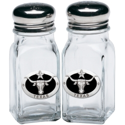 Texas Longhorn Salt and Pepper Shaker Set - Enameled